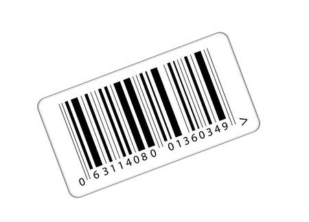 brindled: sticker with the bar-code
