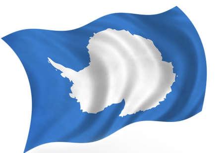 antarctic: Antarctic flag; isolated Stock Photo