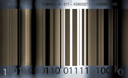 bar-code on grunge Stock Photo - 8443704