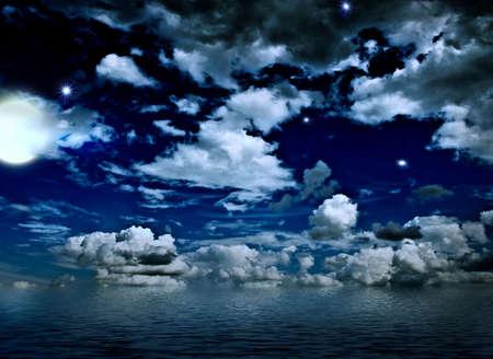 night seascape Stock Photo - 8476558