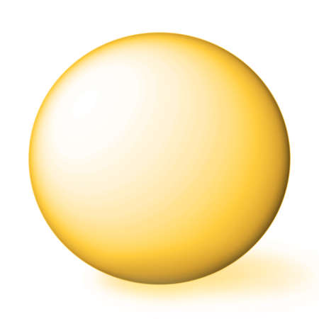 orb: golden sphere.