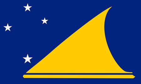 territorial: Tokelau (New-Zeland) flag Illustration