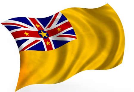 niue: Niue flag; isolated