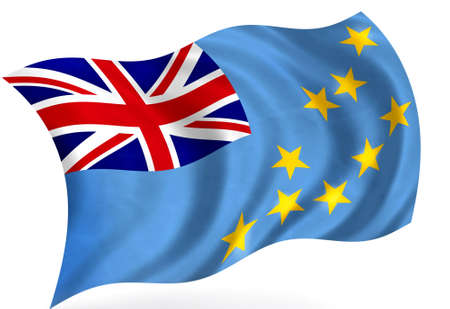 tuvalu: Tuvalu flag; isolated Stock Photo