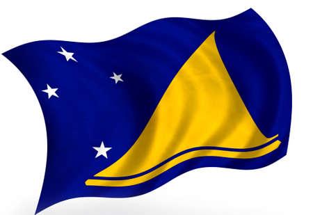 tokelau: Tokelau (New-Zeland) flag; isolated