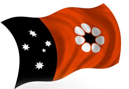 Australian Northern Territory flag; isolated  photo