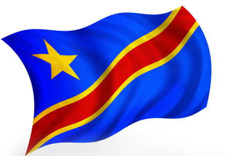 zaire: Zaire (Congo) 3d flag Stock Photo