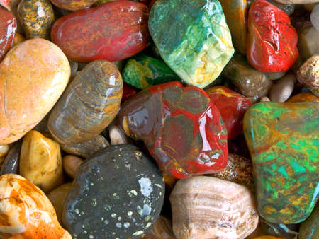 semiprecious: decorative pebbles, closeup Stock Photo