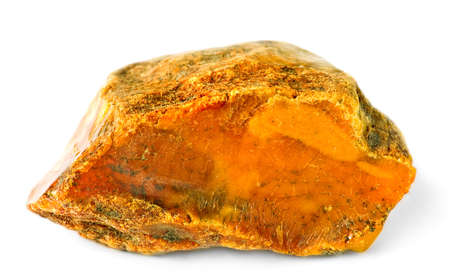amber coloured: amber piece