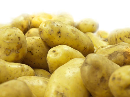 provisions: potatoes; closeup isolated