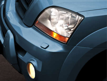 sidelight: car headlight Stock Photo