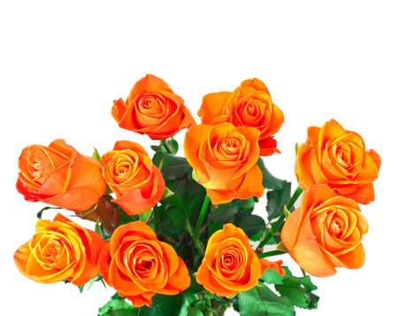 rosas naranjas: ramo de rosas de oro