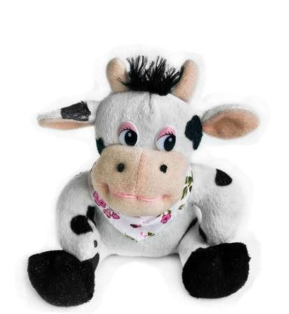 velours: toy cow Stock Photo