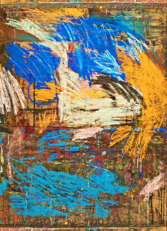guache: gouache abstracta en madera