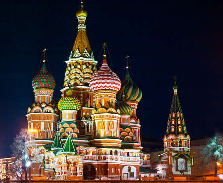 moscow churches: Saint Basil s cathedral; Moscow, Russia
