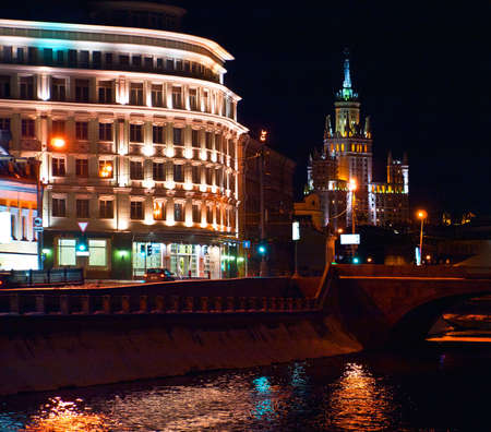 old Moscow at night Stock Photo - 12372756