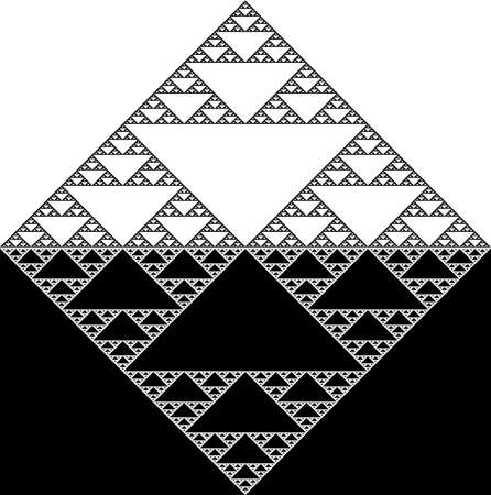 symmetrical design: halved symmetric design; triangles in cube