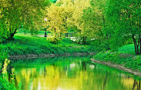 river bank: park landscape design