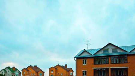 row of brick houses photo
