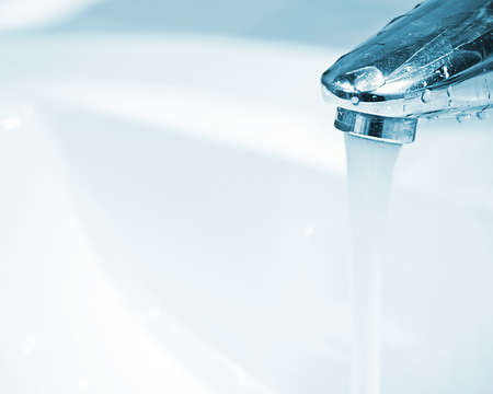 wash-sink, open water tap
