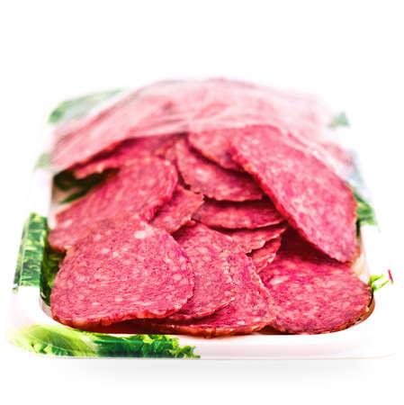 dry provisions: cut salami sausage