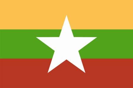 flag of Mianmar,  Birma Stock Vector - 13170887