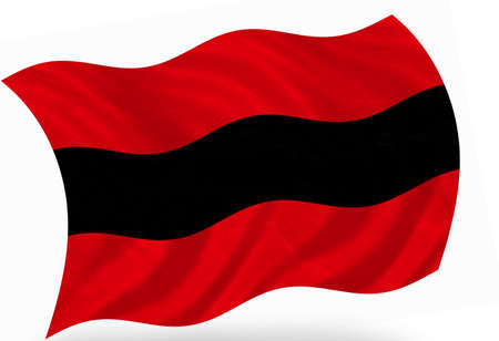 ensign: Albania ensign, 3d Stock Photo
