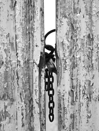 padlock shut off: closed gates with padlock