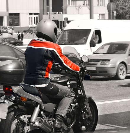 Stadt Motorradfahrer Lizenzfreie Bilder
