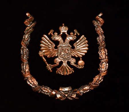 national emblem of Russia, copper on velvet Stock Photo - 14887217
