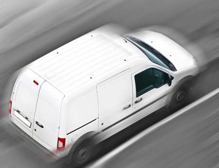 delivery van: moving commercial car