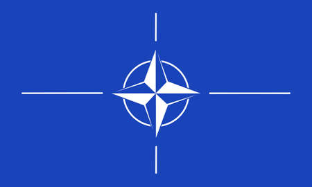 nato: North Atlantic Treaty Organization- NATO, flag-insignia Editorial