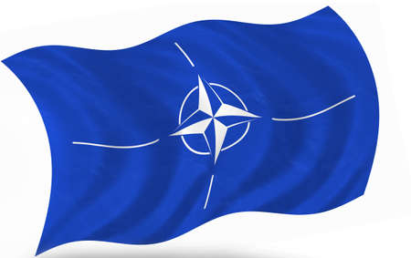 north atlantic treaty organization: North Atlantic Treaty Organization- NATO, flag