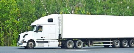 white liner truck
