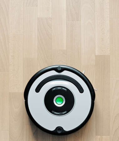 vacuum cleaning robot photo