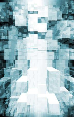 fundo techno. fluxo de dados Imagens