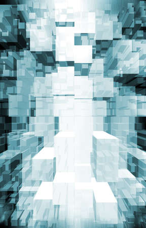 techno background. data flow Standard-Bild