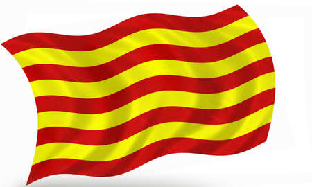 Catalonia (Spain) flag 3D photo