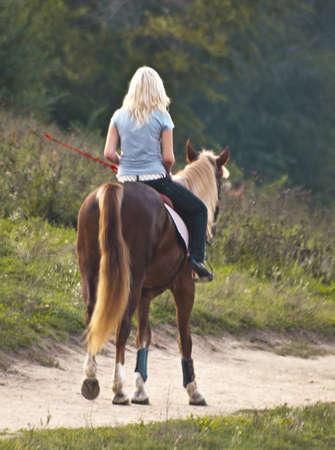 parapente: jinete del caballo