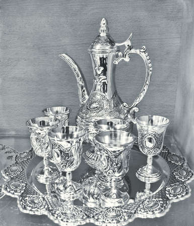 antique wine set photo