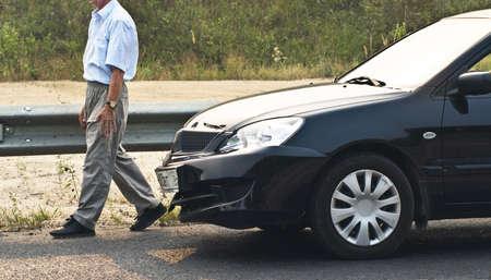 initiator: broken car and driver