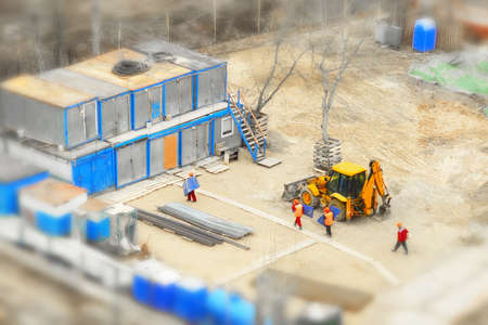 tilt: construction site, tilt-shift