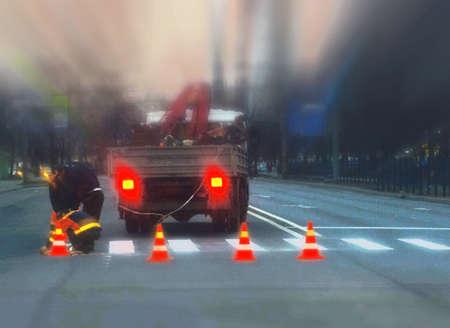 roadworks: roadworks, tilt-shift