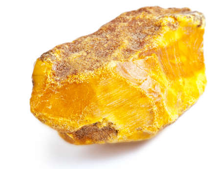 amber coloured: piece of amber