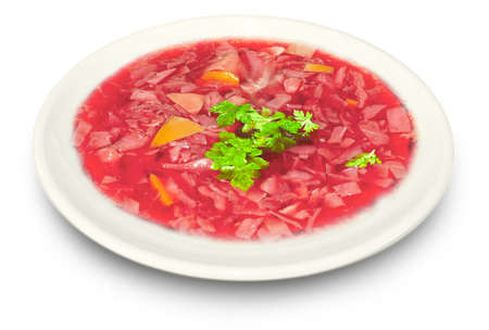 plateful: beetroot soup borsch