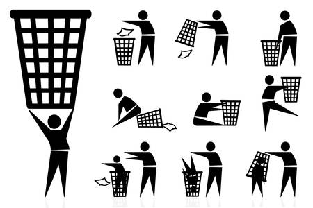 trash-man, icons Stock Vector - 22082887