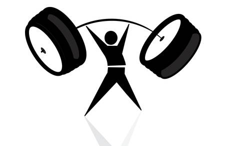 weightlifter, victory Stock Vector - 22167288