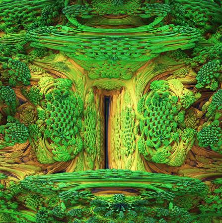 overgrown: fractal background
