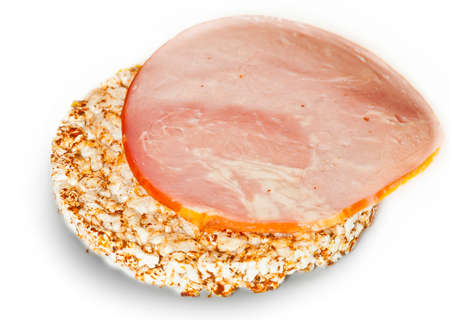crisp with ham Stock Photo