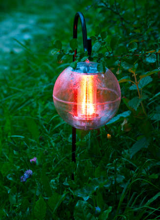 dimm: autonomic garden lantern Stock Photo
